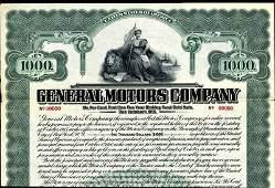 1053: General Motors Co. 1910 Historic Bond Rare!!