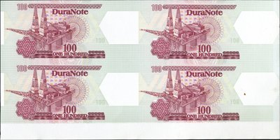 1737: Dura Note - Polymer Material Block of 4 Ad Note.