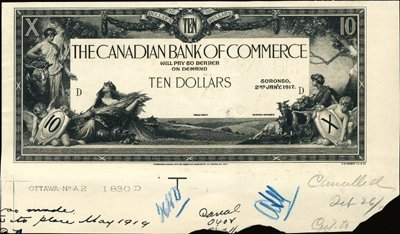 1928: Toronto. Canada The Canadian Bank of Commerce.