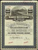 5703: Mexico. Banco Occidental de Mexico Specimen