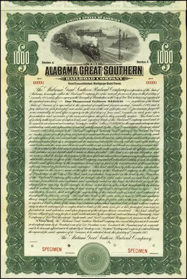 6069: Alabama. Alabama Great Southern Railroad Company.