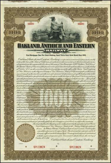 6077: California. Oakland, Antioch and Eastern Railway.