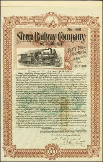 6081: California. Sierra Railway Company of California.