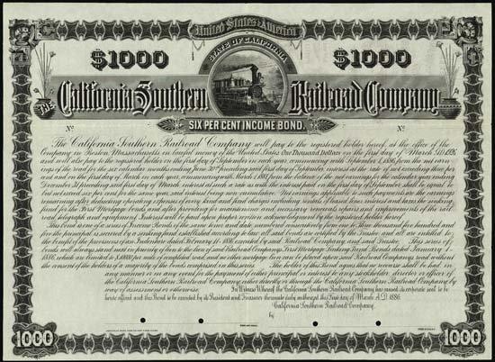 6083: California. The California Southern Railroad Comp
