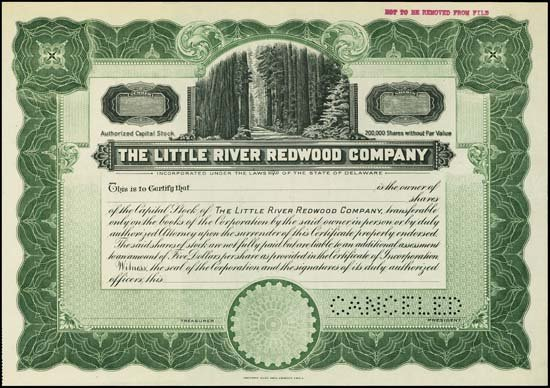 6084: CA. The Little River Redwood Company and Railroad