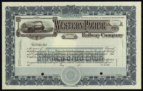6087: California. Western Pacific Railway Company.