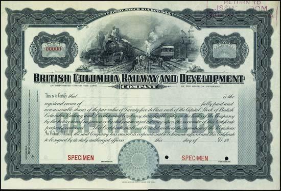 6089: Canada. British Columbia Railway and Development.
