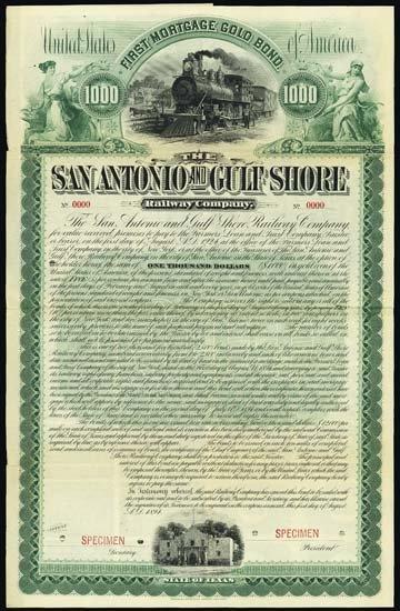 6284: Texas. The San Antonio and Gulf Shore Railway Co.