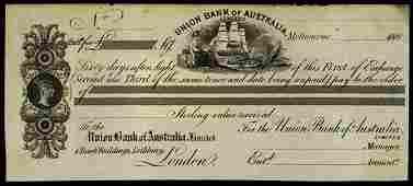 6689: Australia. Union Bank of Australasia Bill of Exch