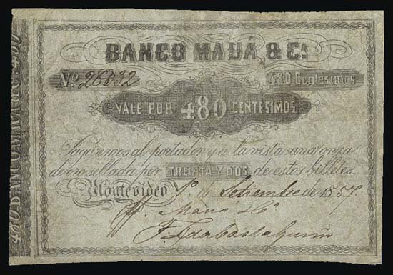 6826: Argentina. Uruguay. Counterfeit Banknote Collecti