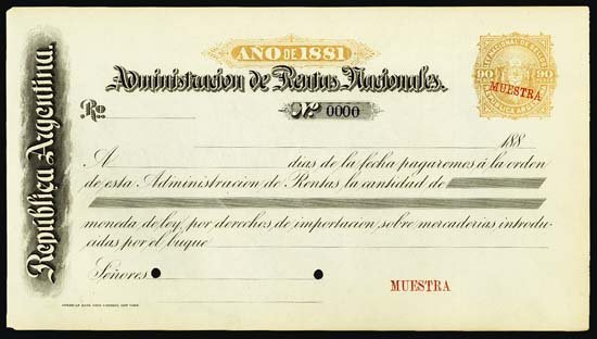 6827: Rep. Argentina - Administracion De Rentes Naciona