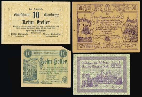 6832: Austria. Austrian Notgeld Assortment #3.