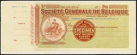 6836: Belgium. Societe Generale De Belgique.