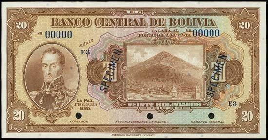 6839: Bolivia. El Banco Central De Bolivia