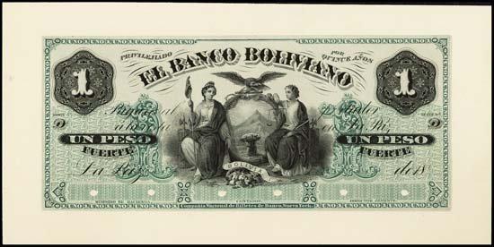 6841: Bolivia. El Banco Boliviano Proof Banknote.