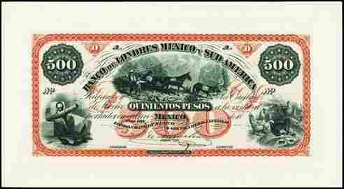 7500: Mexico. Banco De Lond. Mex. y Sud Am. Banknote Pr