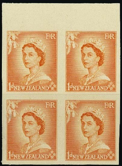 9000: New Zealand. 1953-58 Queen Elizabeth II Imperf Pr