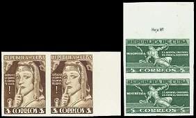 9002: Cuba. 1943 5th Column Issue TC Prf Pairs