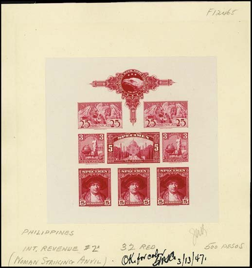 "9004: U.S. ABNC ""Specimen"" Stamp Sheetlet of 8 Prfs"
