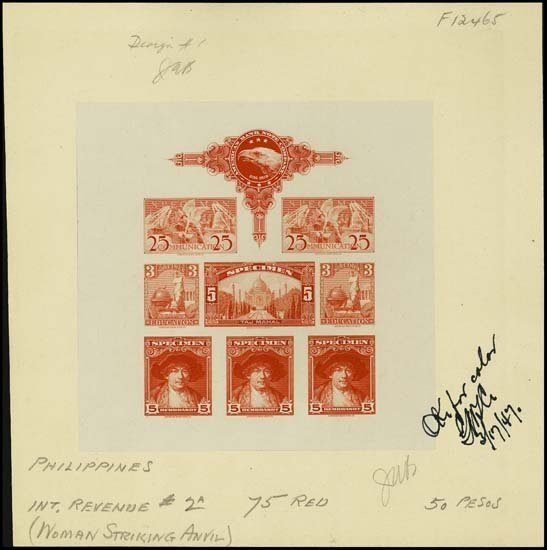 "9007: U.S. ABNC ""Specimen"" Stamp Sheetlet of 8 Prfs"