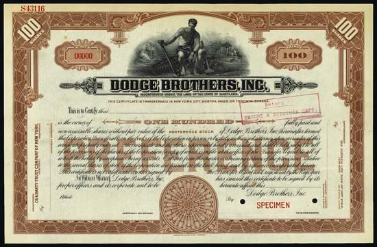 9008: Maryland. Dodge Brothers, Inc.