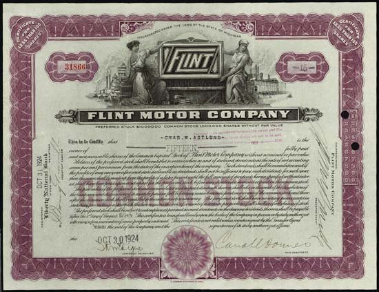 9009: Michigan. Flint Motor Company.