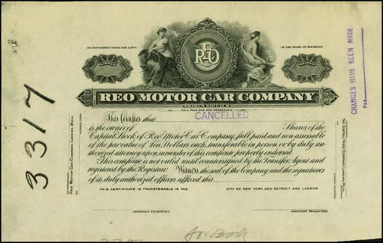 9010: Michigan. REO Motor Car Company