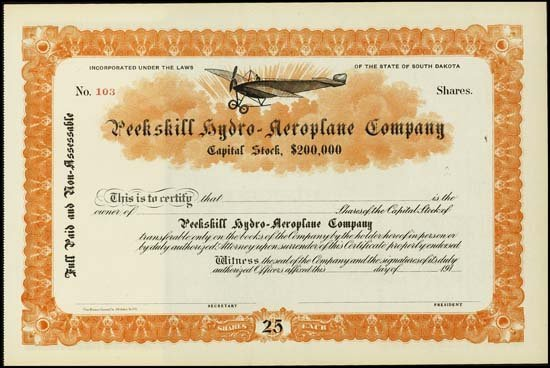 9014: South Dakota. Peekskill Hydro-Aeroplane Company