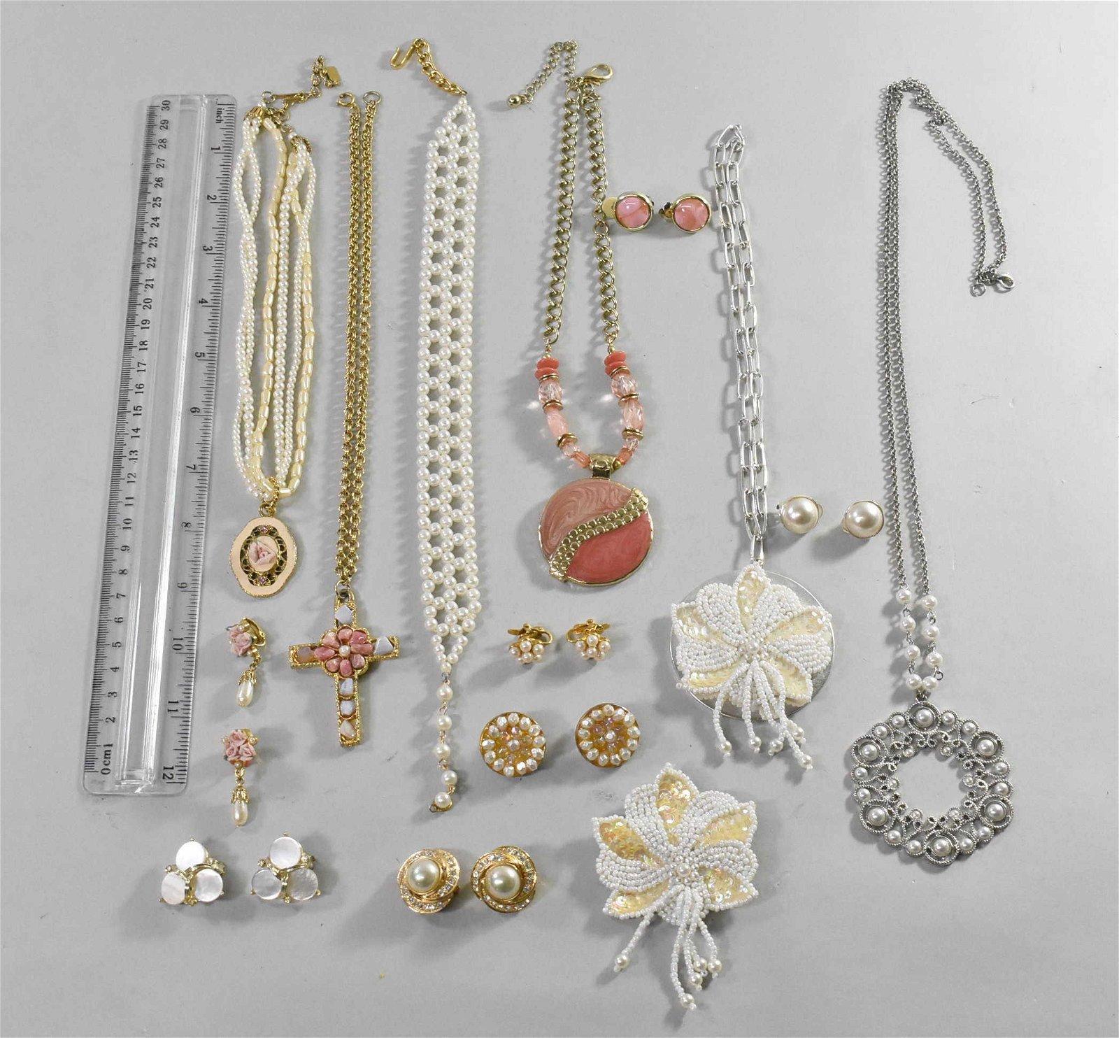 1928,  Lisner,  Brooch W/ Rose, Sequin Costume Jewelry