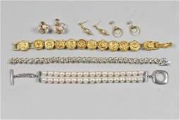 Tiffany Pearl 925 Bracelet, Earrings, Diamond