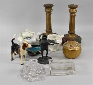 Cut Glass Group, RS Prussian, Devilbiss, Hummel