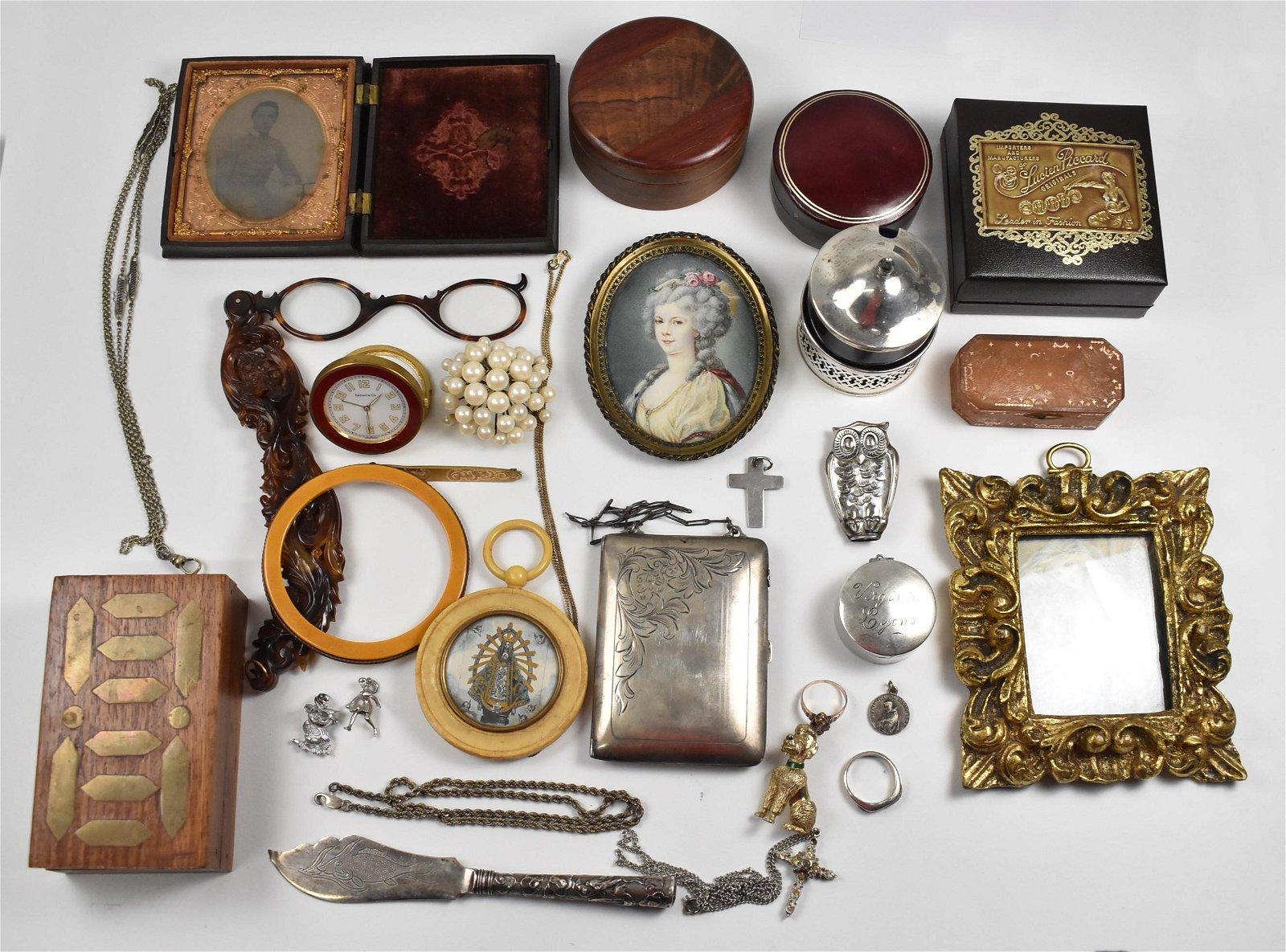 Tiffany Clock, Sterling, Vintage Jewelry, Portraits