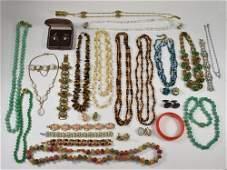 Vintage Costume Jewelry Lisner, Trifari, Mikimoto, Coro