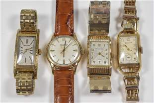 4 Gold Filled Men's Wristwatches