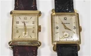 2 - 14K Watches Benrus, Bulova