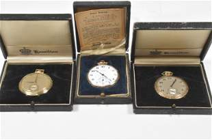 3 - 12 Size Watches, 1 14K Gold, 2 Gold Filled