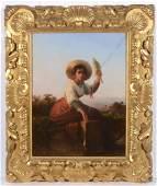 "Karl August Bielchowski (1826-1863) ""Neapolitan Girl"