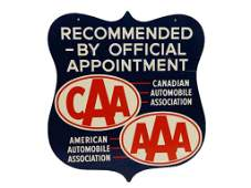 CAA AAA RECOMMENDED BY OFFICIAL APPOINTMENT SIGN