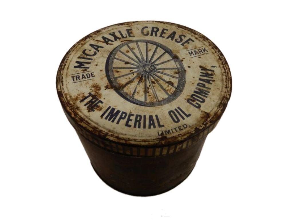 EARLY MICA  AXLE GREASE CAN