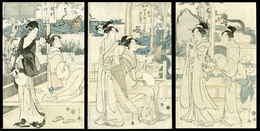 Hosoda Eishi Japanese Woodblock Print
