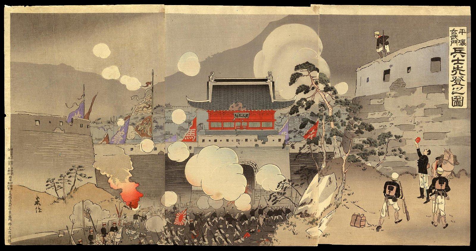 Taguchi Beisaku - Japanese Woodblock Triptych