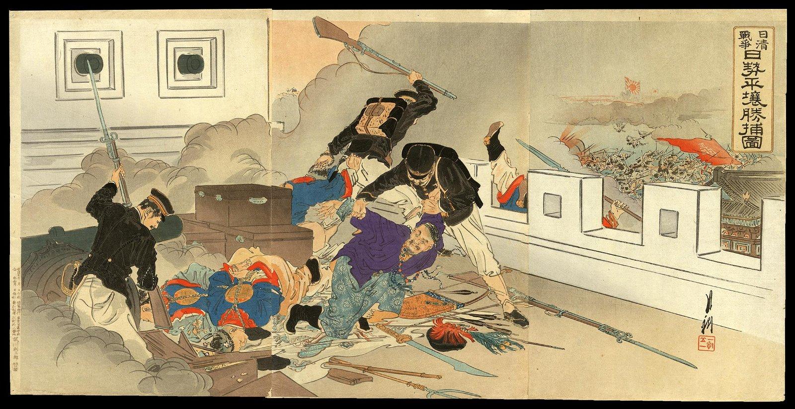 Ogata Gekko - Japanese Woodblock Triptych