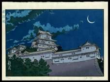 Paul Binnie Woodblock - Himeji Castle