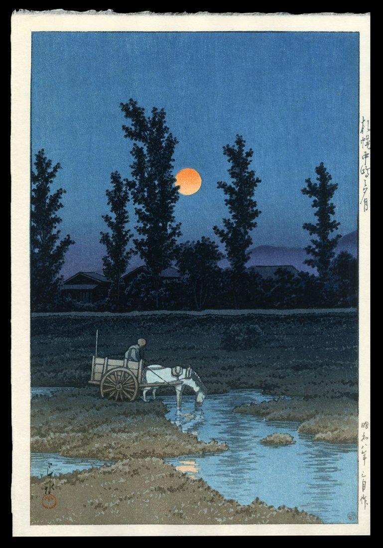 Kawase Hasui Woodblock - Misty Morning, Yotsuya