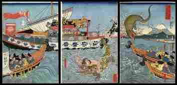 Utagawa Kuniyoshi Woodblock - Asahina Yoshihide