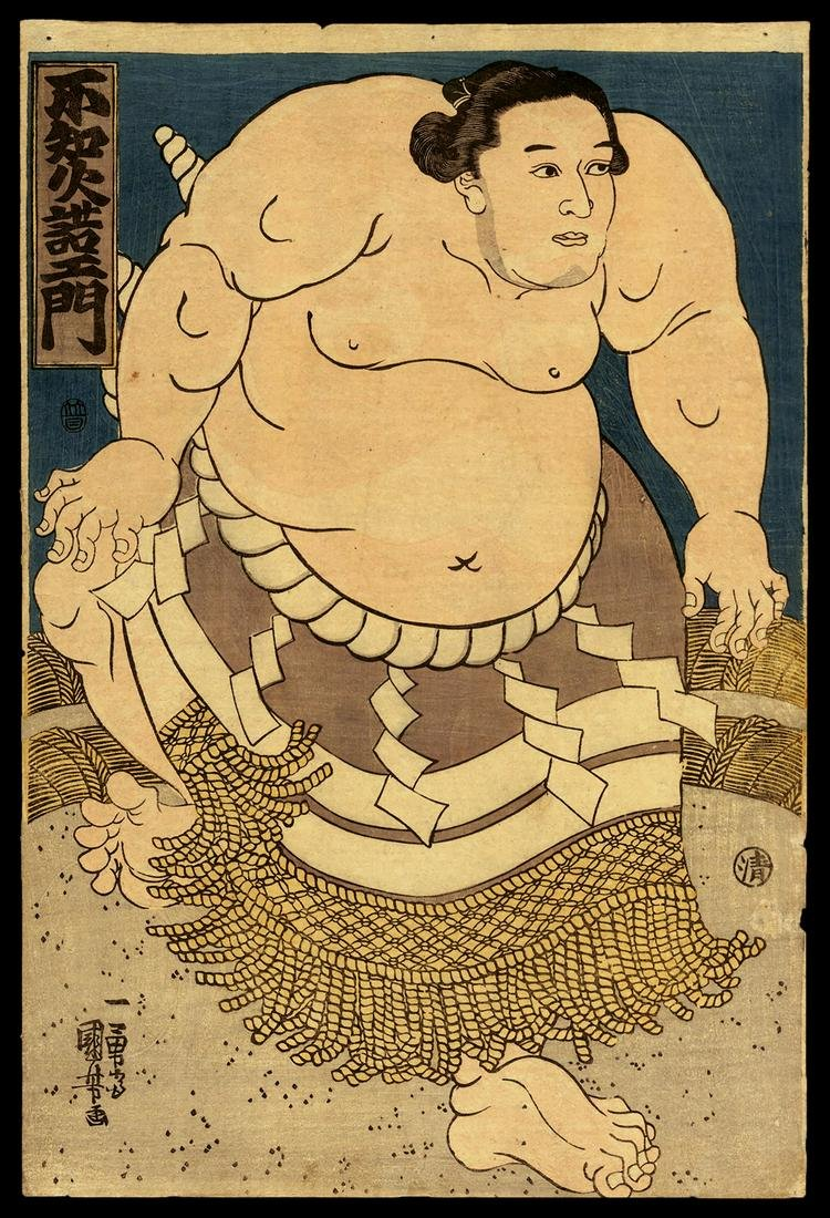Utagawa Kuniyoshi Woodblock - Shiranui Dakuemon