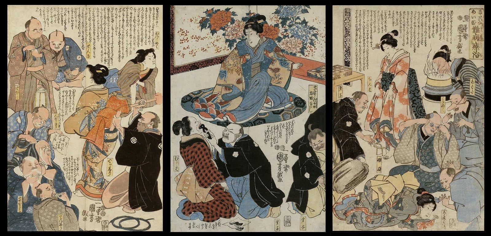 Utagawa Kuniyoshi Woodblock - The Marvelous Doctor