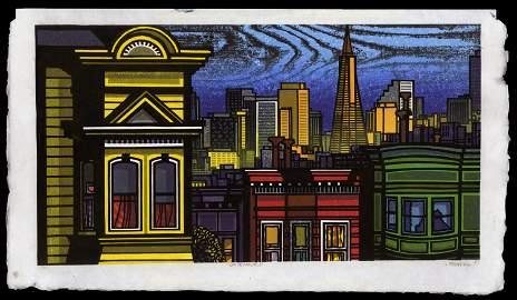 Clifton Karhu Woodblock - San Francisco
