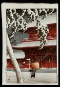 Kawase Hasui Woodblock - Zojo Temple, Shiba