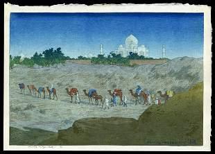 Charles W. Bartlett Woodblock - Taj-Mahal Desert